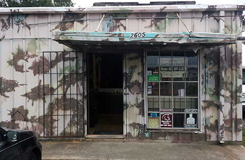 military surplus store front